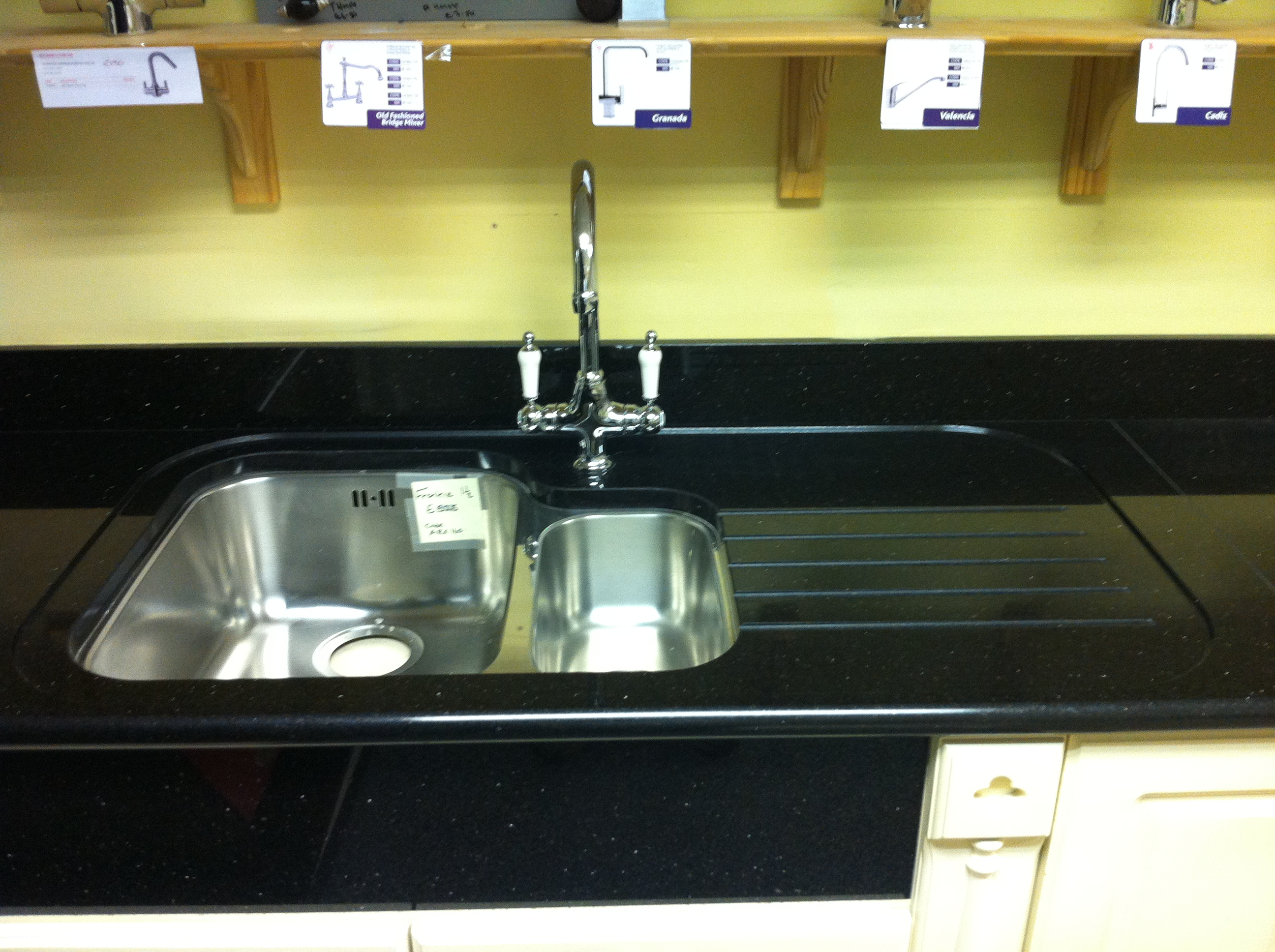B And Q Kitchen Design Service Star Galaxy Worktop With Recess Drainer And Undermounted